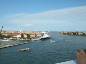 inkijk in de Canal Grande van Venetië